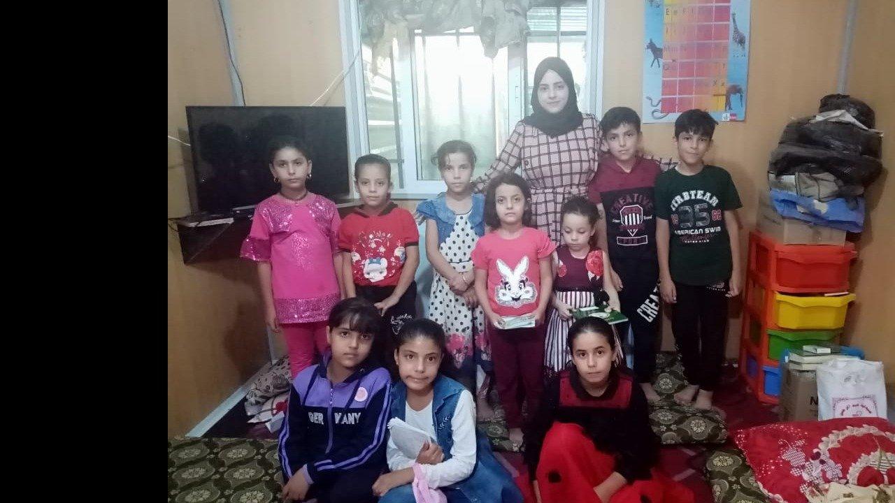 The students I teach in my caravan at Zaatari refugee camp