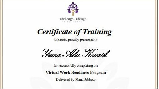 Virtual Work Readiness Program Training