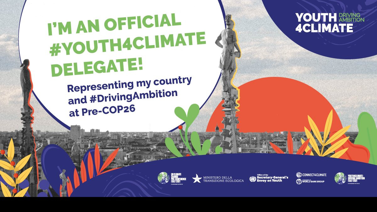 I'm SO excited to announce that this September I'll be attending a special #Youth4Climate: #DrivingAmbition event in Milan! 🇮🇹 I can't wait to help set the stage for #PreCOP and #COP26 in partnership with @Mite_IT @Connect4Climate & @UNYouthEnvoy  Whilst there, I'll be working with hundreds of other youth delegates from around the world to help shape the climate agenda for this year's conferences and beyond! The countdown is ON  #COP26 #ClimateActivist #ClimateChampions #Connect4Climate #SaveOurPlanet #GuardiansofNature