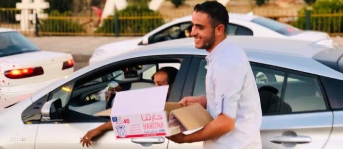 Volunteering in Ramadan providing meals to the needy