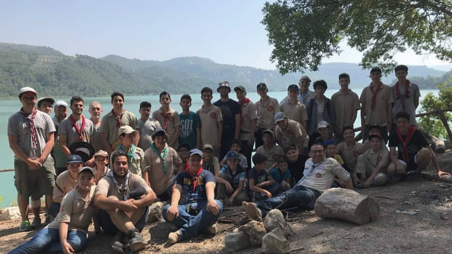 Me and my Scouts troop after a 3 day camping trip to Mashkita, Lattakia