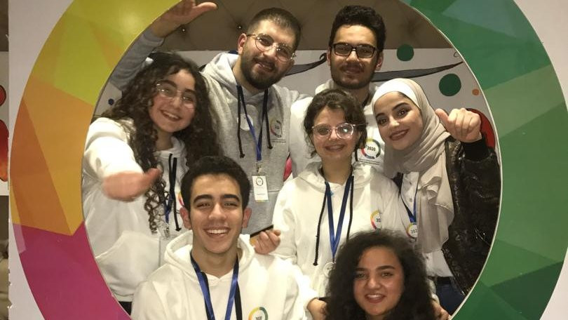 Me and my team in the National School Debates Championship (we represented Damascus)