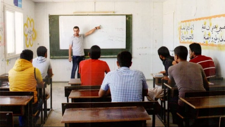 While giving lessons in mathematics to Tawjihi students