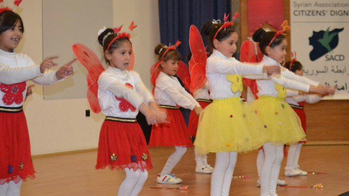 Children from a local orphanage for Syrian Dancing in the play we put together