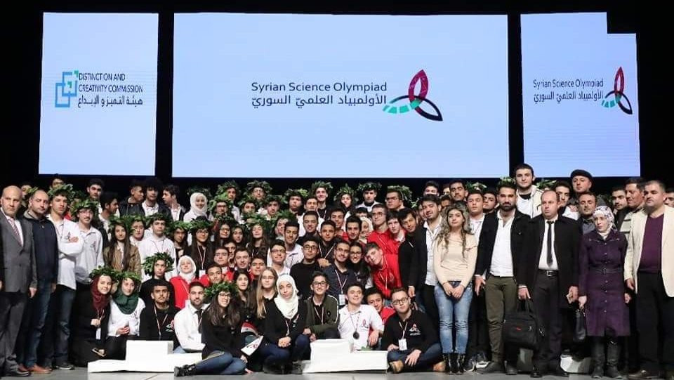 With the Syrian Scientific Olympiad Team of Chemistry.