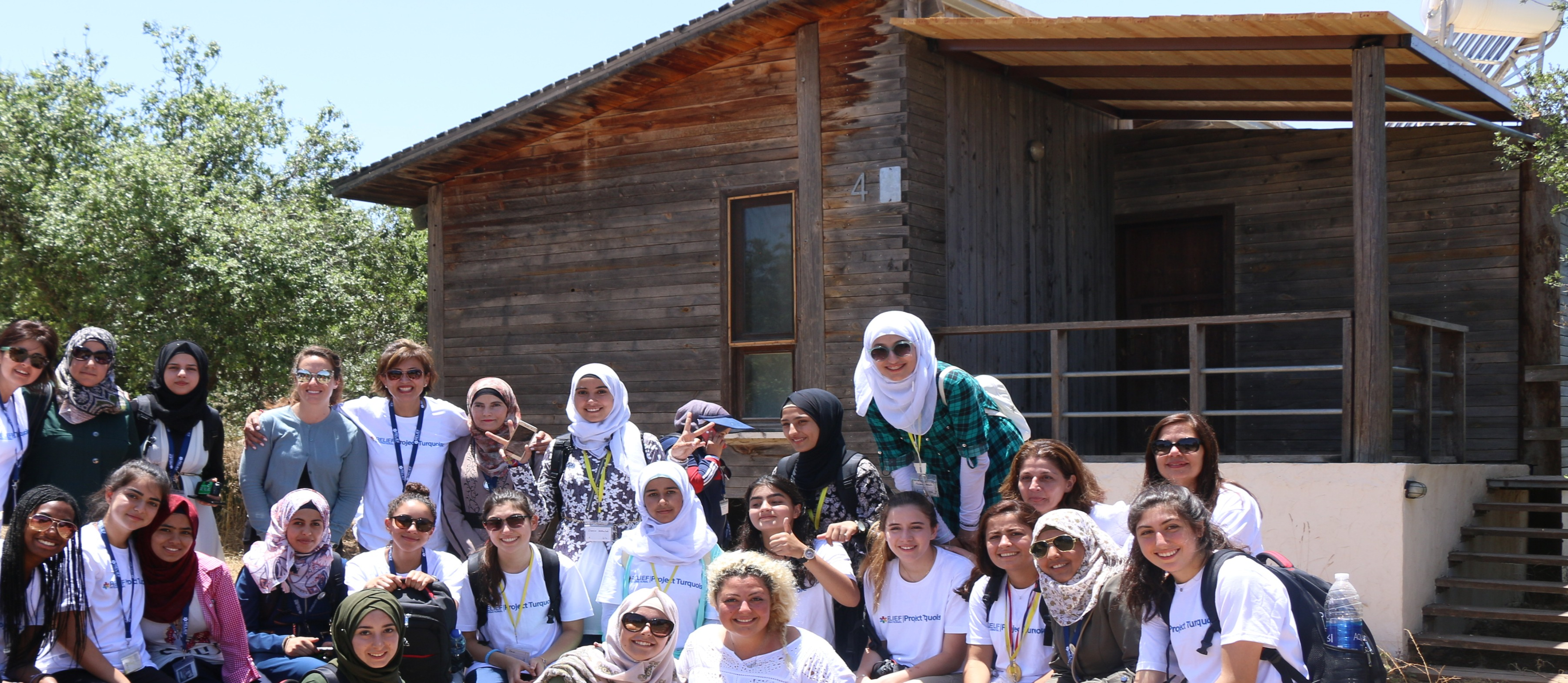 From a group picture during the visit of Project Turquoise team to Zaatari