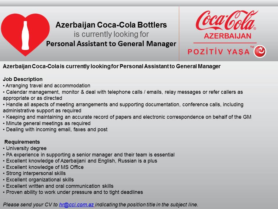 personal manager job description