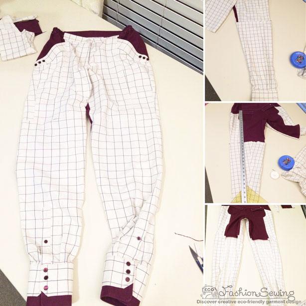 Repurposing-mens-shirts-into-womens-pants---construction-5