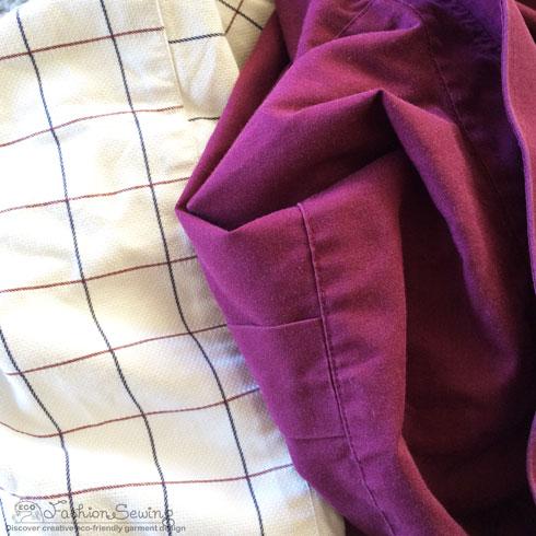 Repurposing-mens-shirts-into-womens-pants---materials