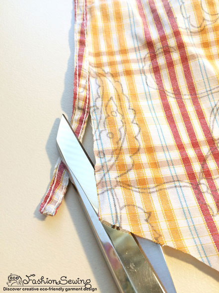 Yellow-shirt-refashion--Redesign-gather-under-bust-and-short-sleeves---use-seams