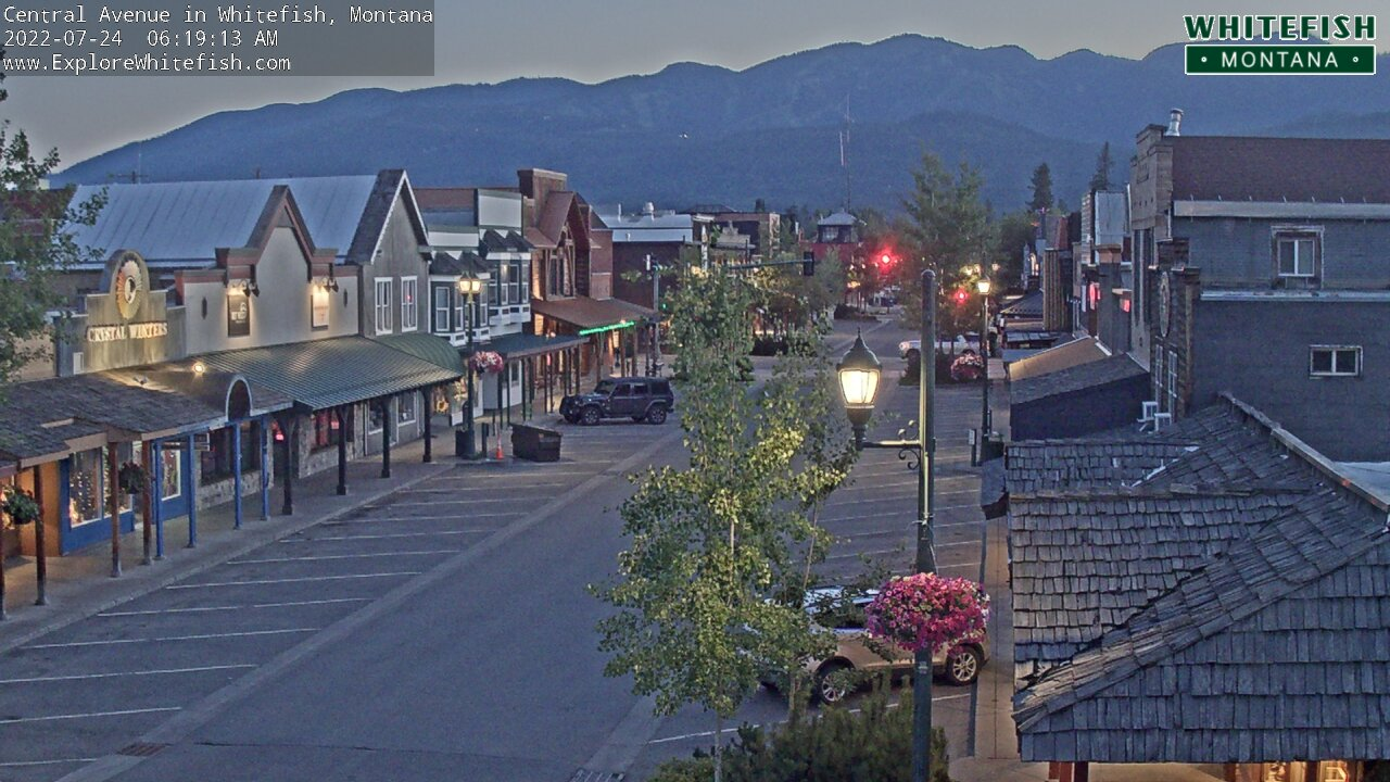 Downtown Whitefish Montana Cam - Montana Webcams
