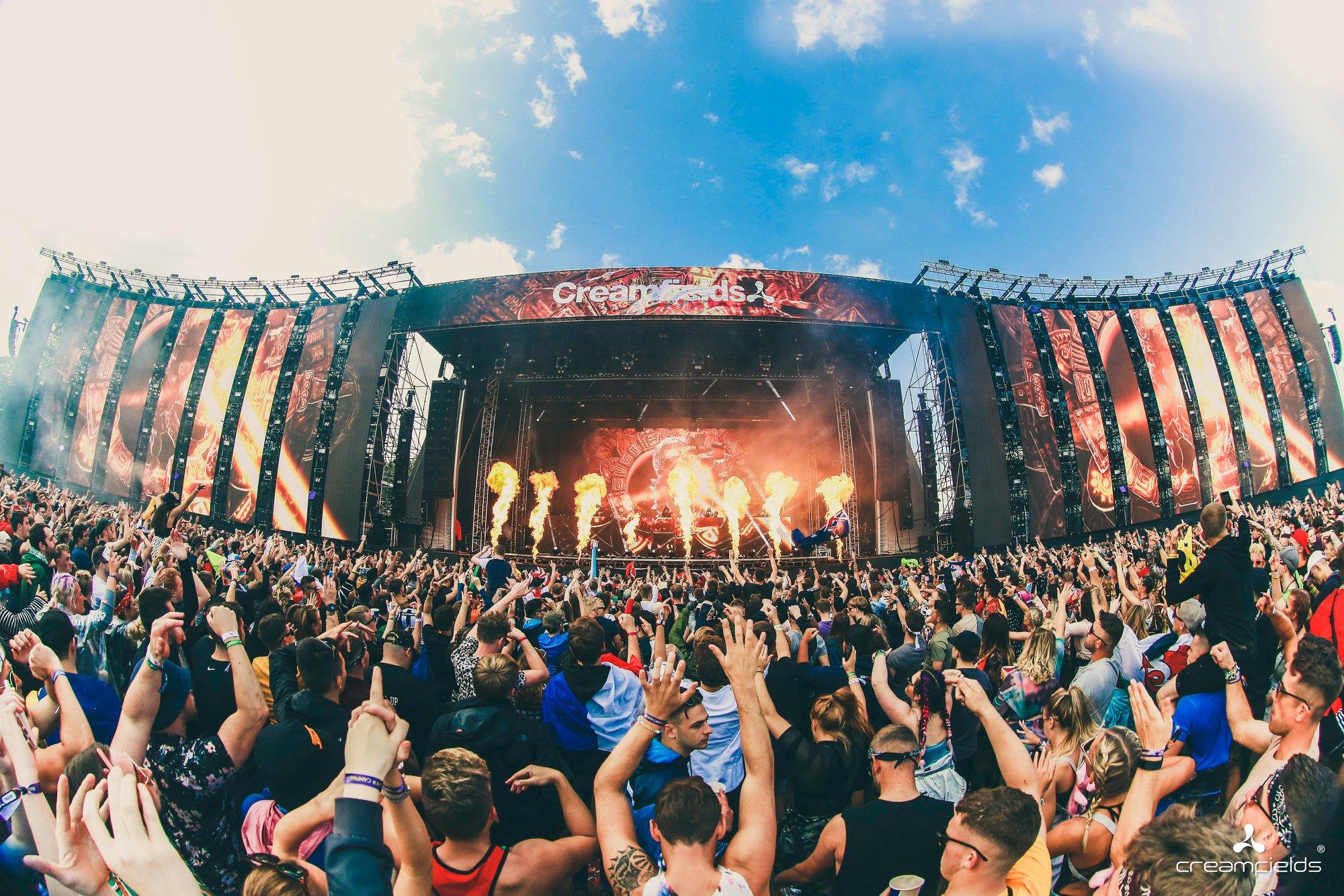 creamfields festival stage