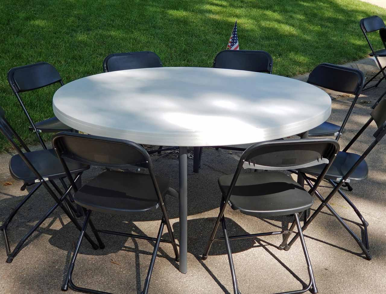 - 60 Inch Round Plastic Folding Table Elite Events Rental