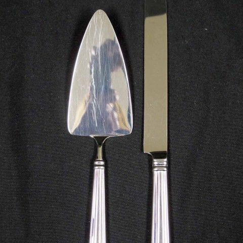Metal Handle Cake Knife and Server