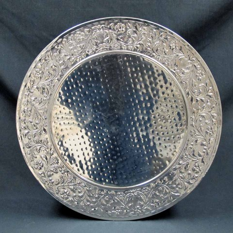 Cake Stand 22 inch Round Silver