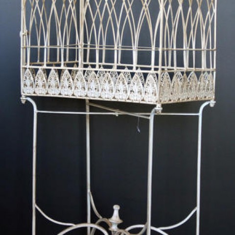 White Iron Bird Cage