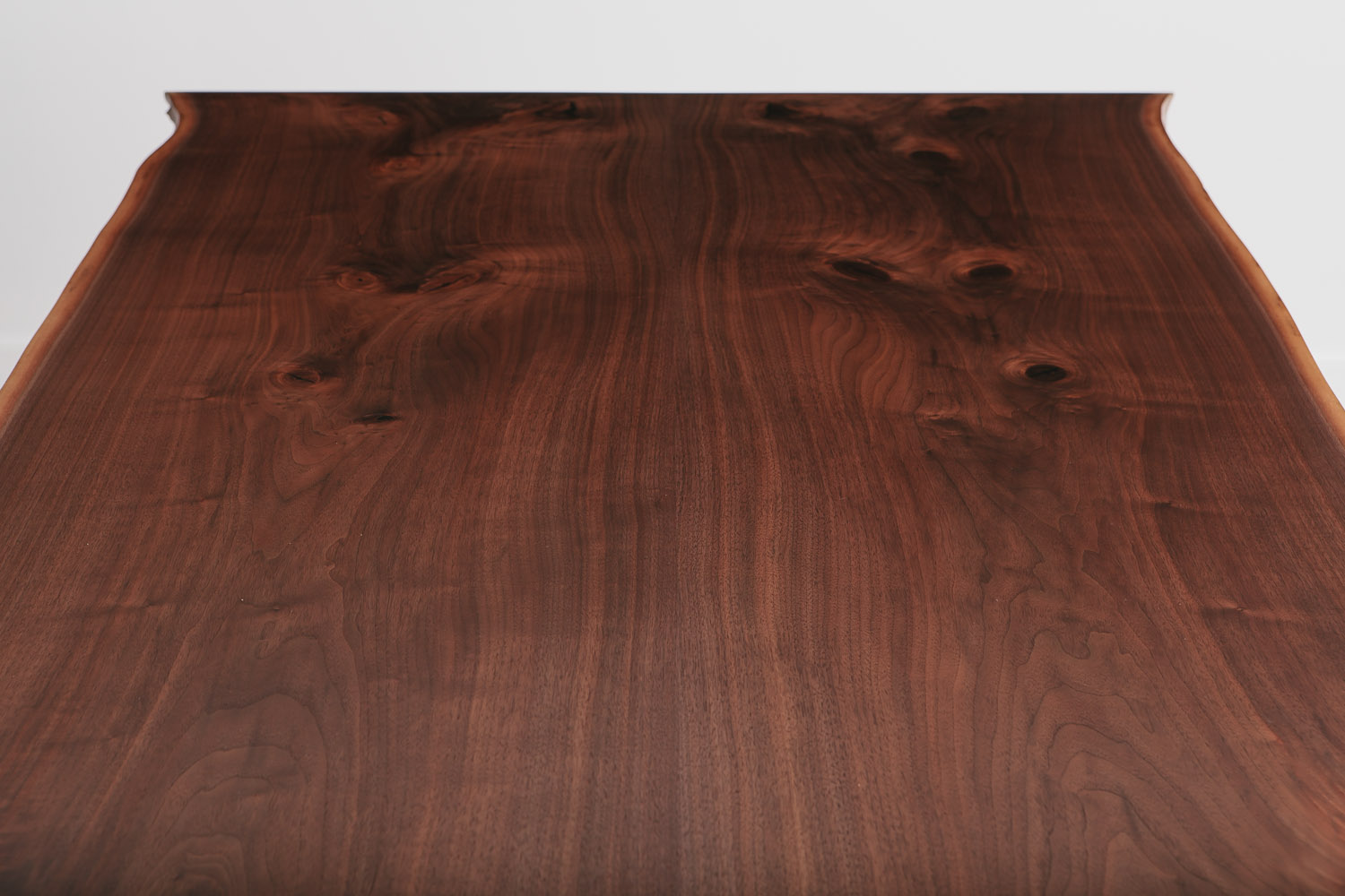 Bookmatched large natural walnut tree slab dining table