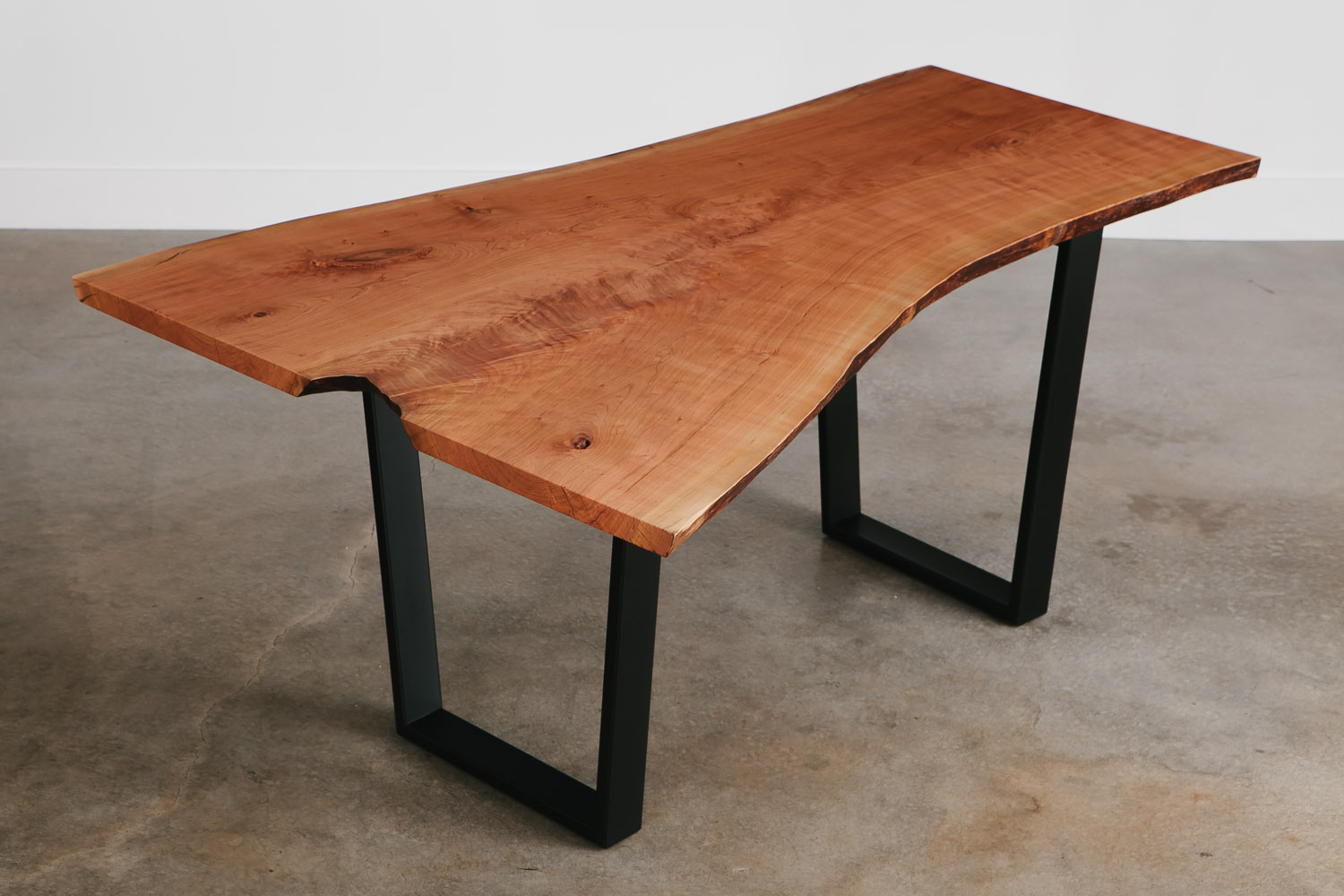 Live edge cherry desk with natural tree characteristics