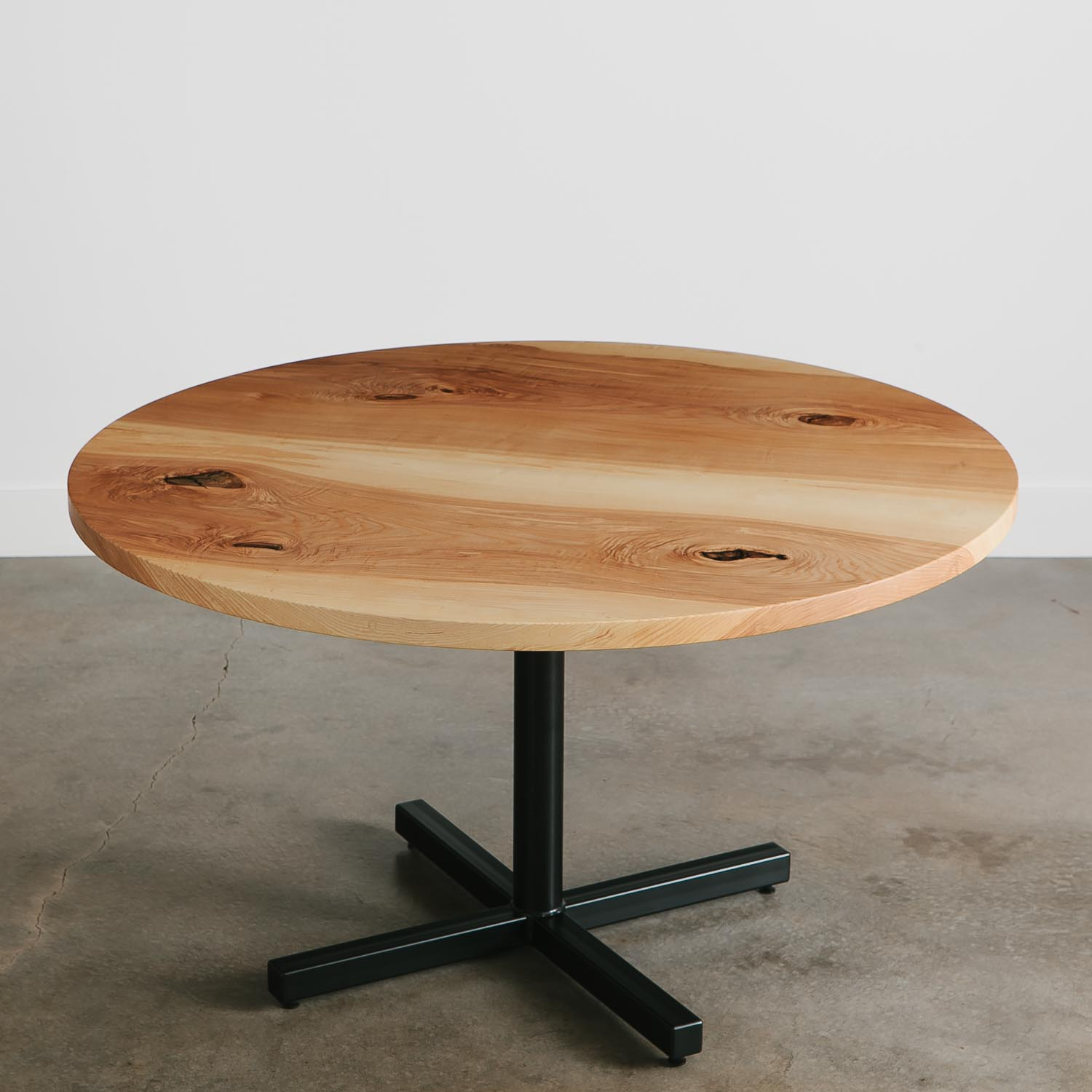 Round modern ash cafe table
