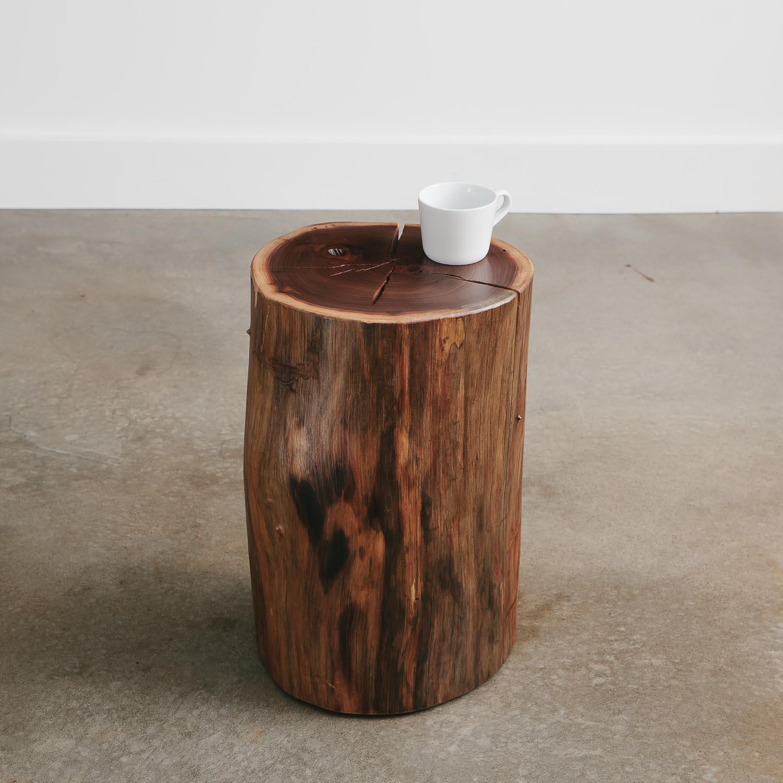 best sneakers 451c4 8b221 Real tree stump side table - Elko Hardwoods | Modern Live ...