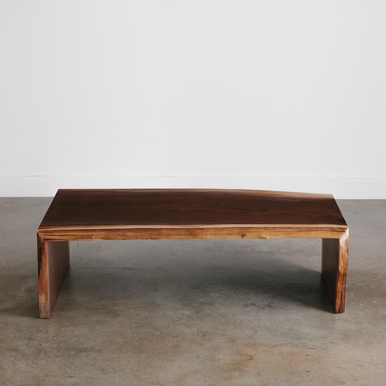 Modern salvaged live edge coffee table