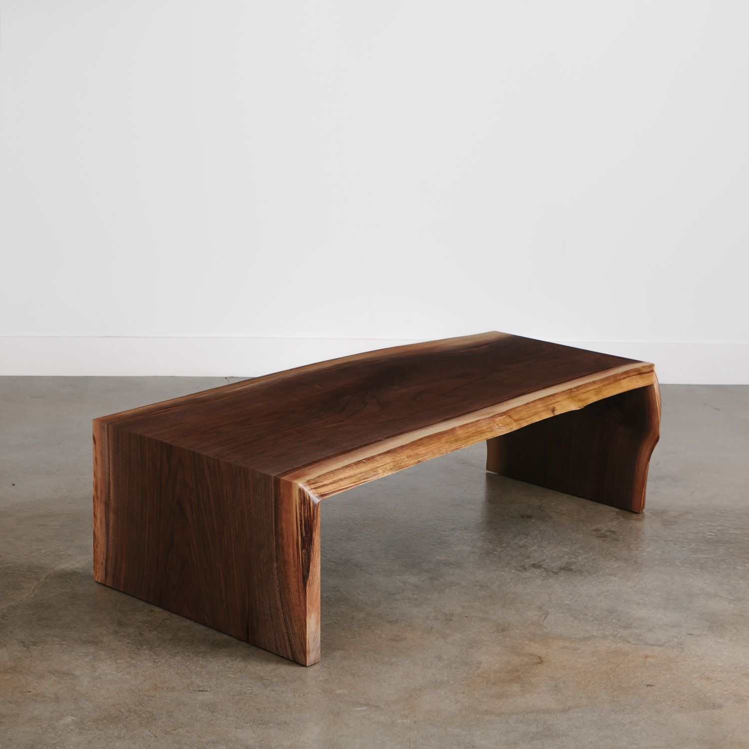 Modern live edge walnut coffee table high end furniture