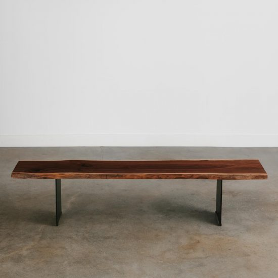 Luxury live edge bench long