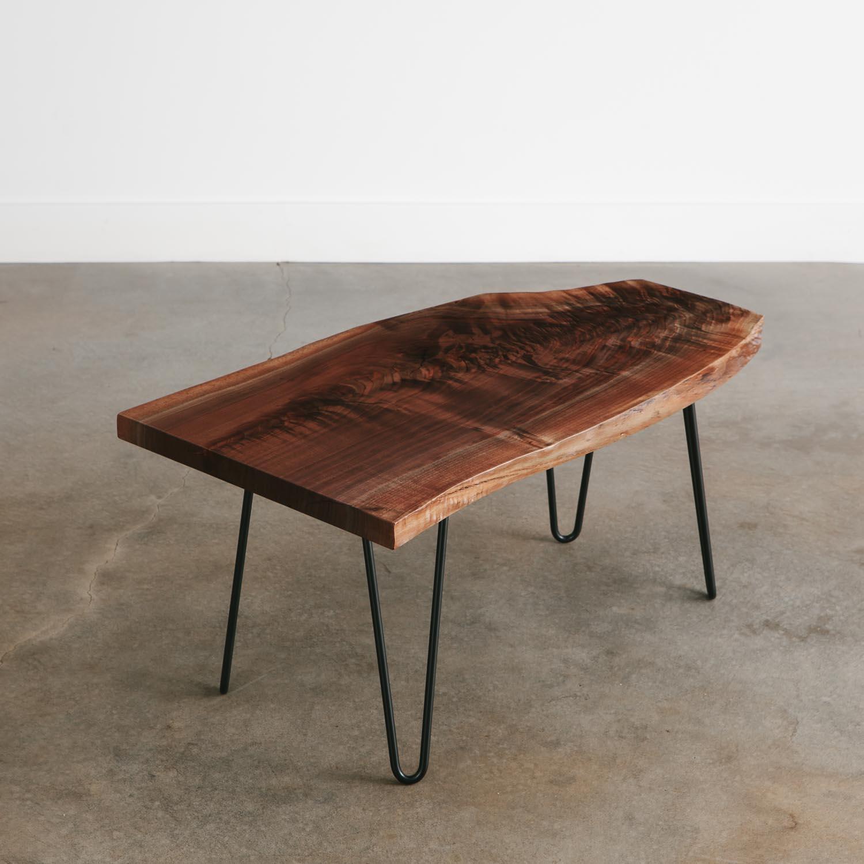 Live Edge Coffee Table Online: Walnut Side Table - Elko Hardwoods