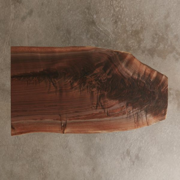 Walnut live edge slab with luxury matte finish
