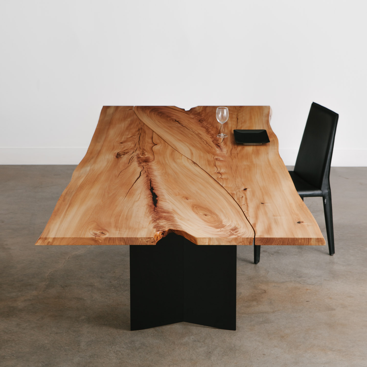 Luxury modern live edge dining table
