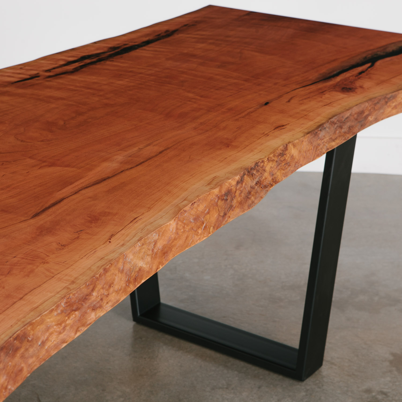 Cherry Dining Table Elko Hardwoods Modern Live Edge Furniture