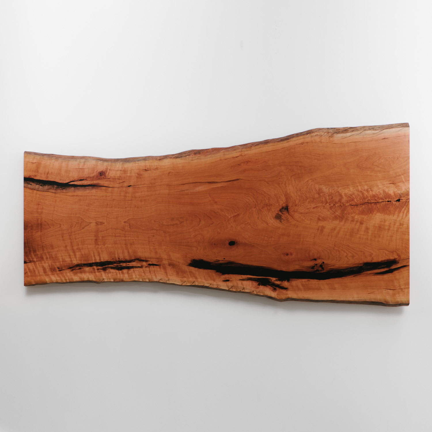 Single slab live edge cherry with natural tree character