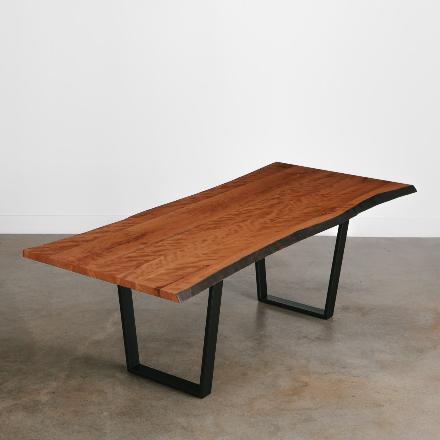Cherry Dining Table | Elko Hardwoods | Modern Live Edge ...