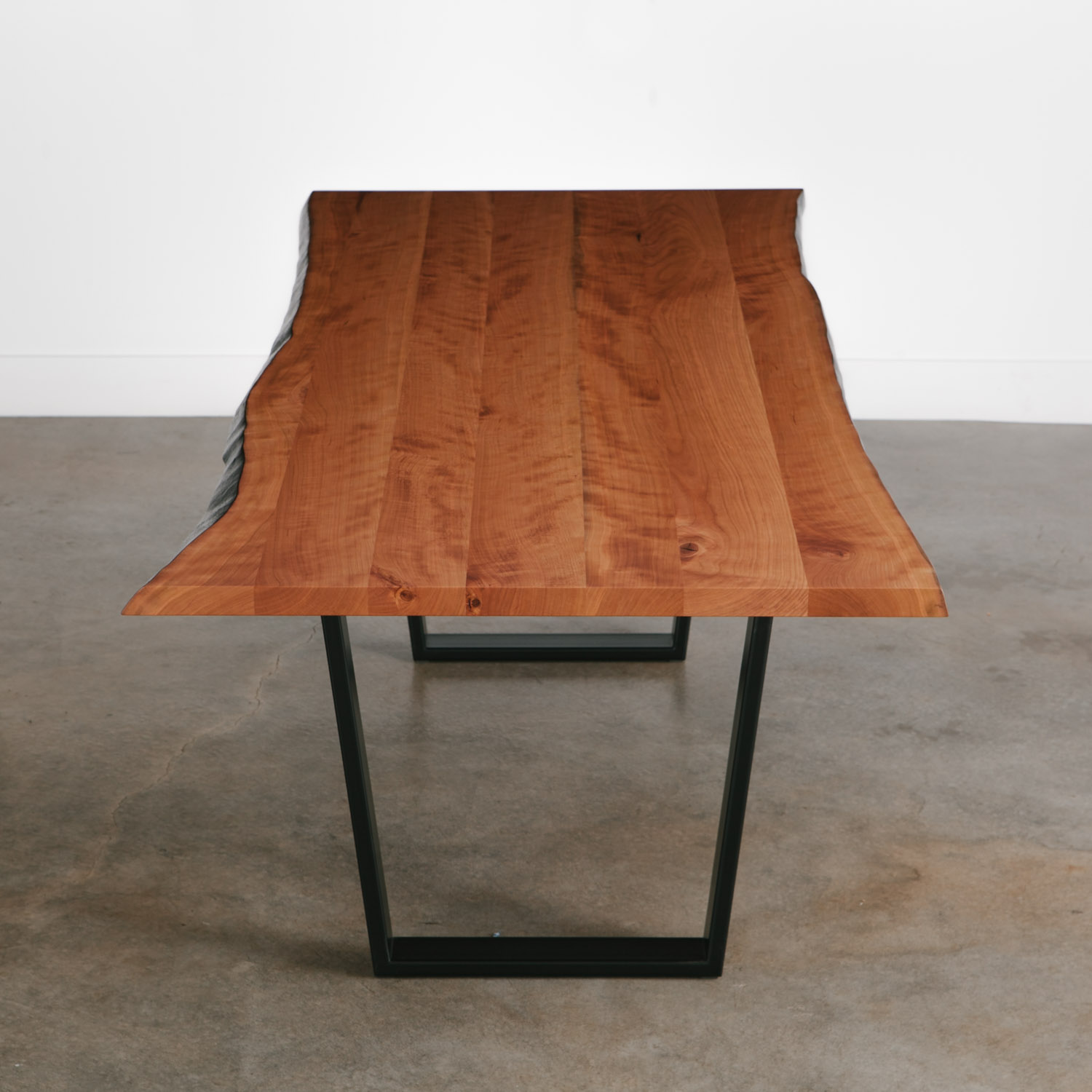 Lux live edge table trapezoid base