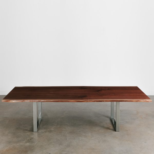 Live edge commercial conference table for coworking space