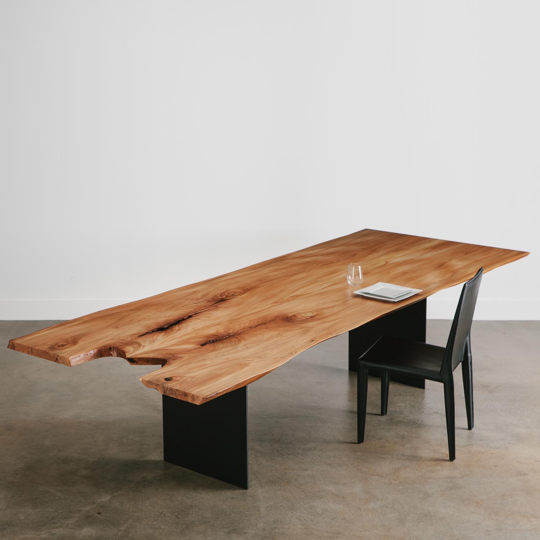Elm Dining Table Elko Hardwoods Modern Live Edge Furniture