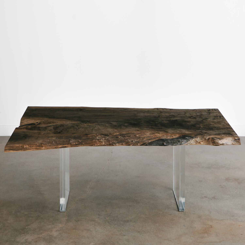 Trendy ebonized maple dining table