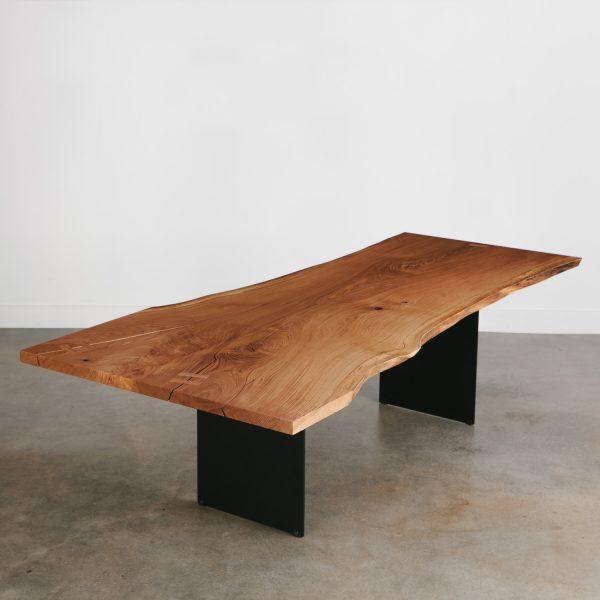 Modern single slab live edge dining room table