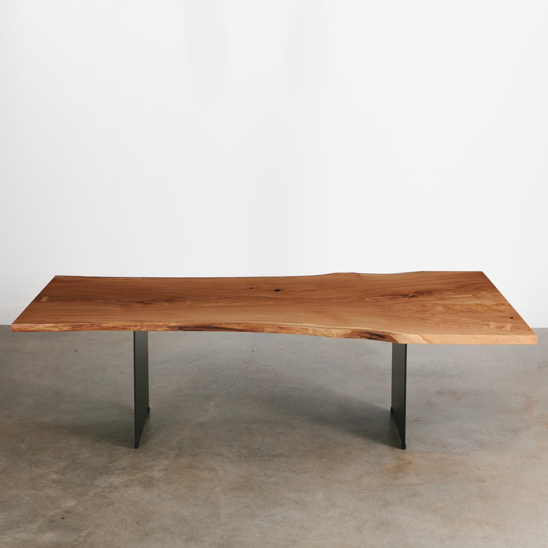 Luxury modern oak dining table