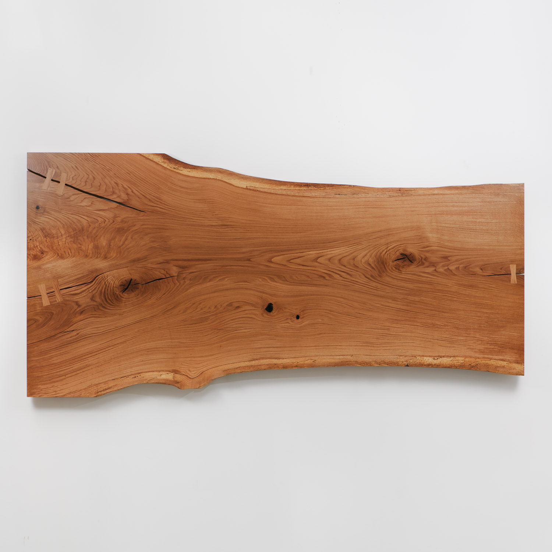 White oak live edge salvaged slab