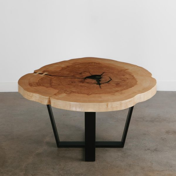 round-live-edge-slab-dining-table