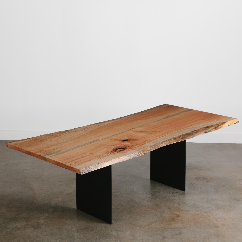 Luxury live edge maple dining table