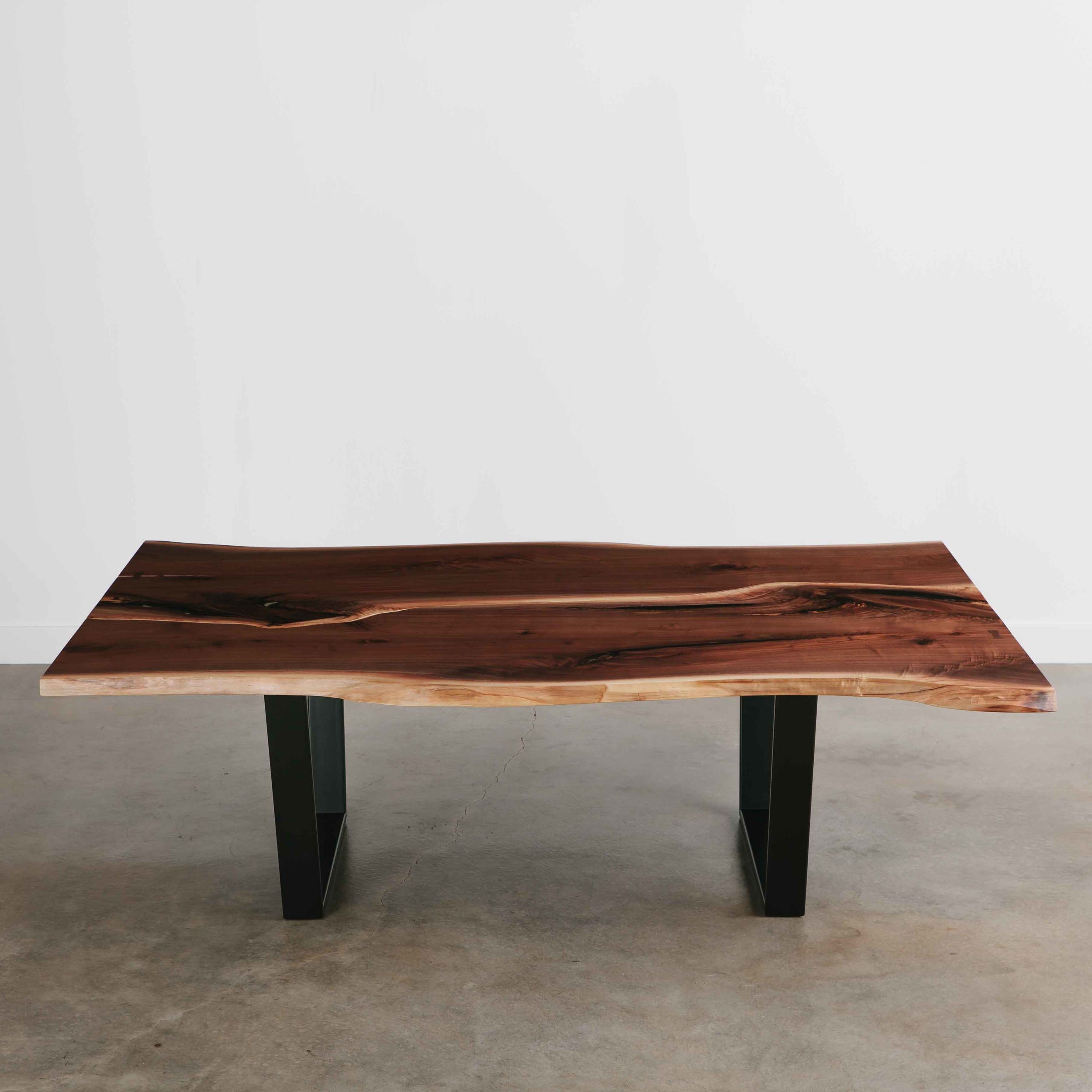 Live edge walnut office conference table