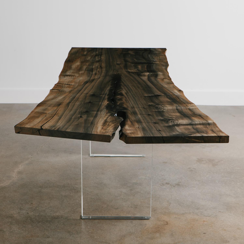 Luxury ebonized maple live edge desk