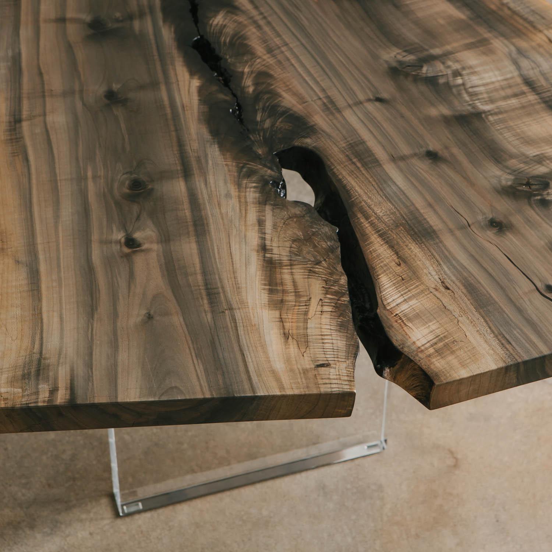 Trendy ebonized maple wood slab