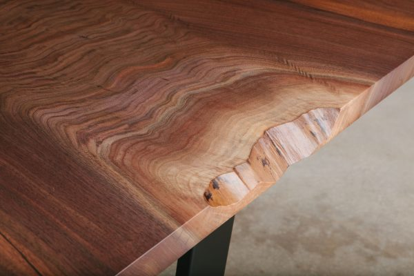Chic walnut live edge detail