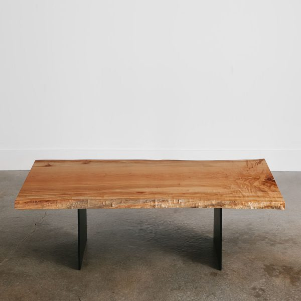 Modern live edge custom coffee table