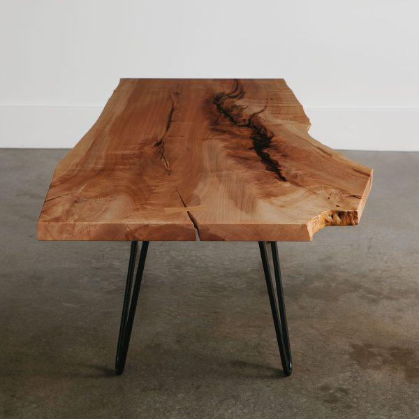 Live edge maple tree coffee table