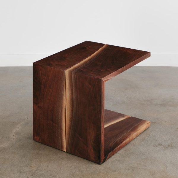 Modern design walnut live edge coffee table