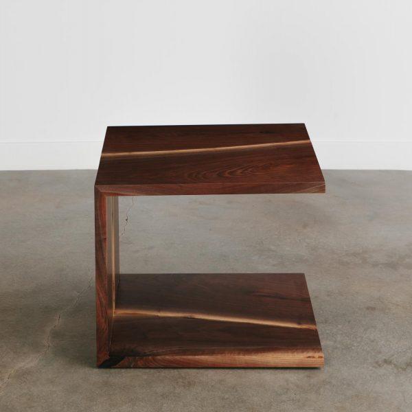 Handmade walnut side table trendy